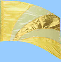 Flags for parades & performances sold by Western Band Specialties
