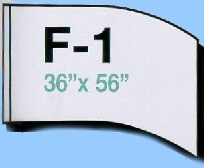 F-1 Shape Solid Value Flags