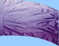 Shaded Poly China Silk Purple Flag