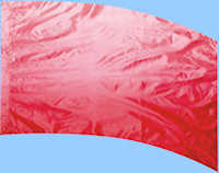 Shaded Poly China Silk Red Flag