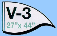 V-3 Shape Solid Value Flags