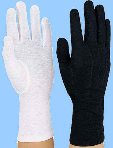 band amp color guard gloves�cotton military sure grip