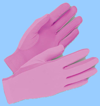 Pink Cotton Military Gloves